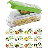 Vegetable Cutter With Chopper - Fruit Cutter - Cheese Shredder - Vegetable Grater - Vegetable Slicer - Chips Maker - French Fries Maker - Best Kitchen Tool - Unbreakable Poly-Carbonate Body - 100% Virgin A Grade Plastic - High Grade Rust Free Stainless St