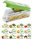 #2: Vegetable Cutter with Chopper - Fruit Cutter - Cheese Shredder - Vegetable Grater - Vegetable Slicer - Chips maker - French Fries maker - Best Kitchen Tool - Unbreakable Poly-Carbonate Body - 100% Virgin A Grade Plastic - High Grade Rust Free Stainless Steel Blades - 12 BLADES WITH PEELER - EASY PUSH & CLEAN SYSTEM - ABS FOOD GRADE MATERIAL - INTERNATIONAL DESIGN - PROUDLY MAKE IN INDIA