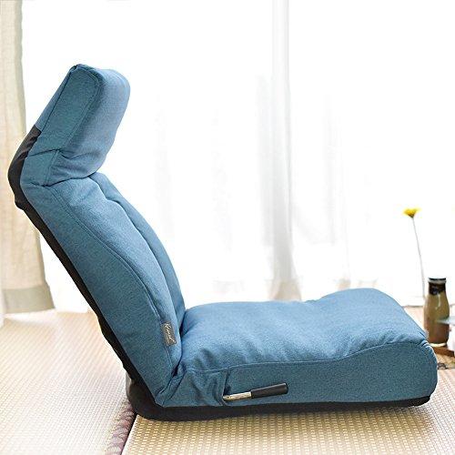 Brisk- Lazy Sofa Sessel Zusammenklappbar Single Stuhl Bett Bay Window Sofa Chair (Farbe : Blau) (Bay Chair)