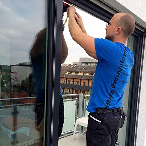 Spiegelfolie Schwarz-Grau 75x300 CM Sonnenschutzfolie selbstklebend Sichtschutzfolie Fensterfolie Tönungsfolie Sichtschutz Wärmeisolierung 99% UV-Schutz