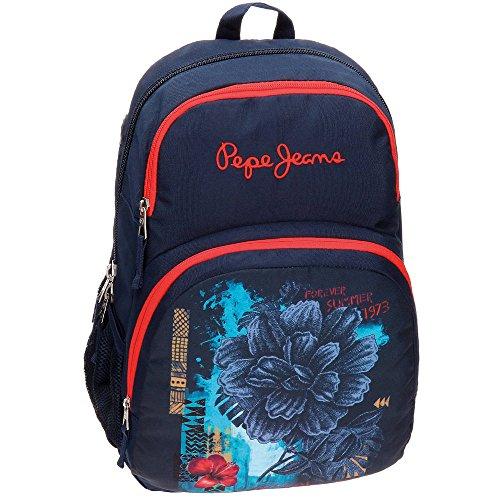 Pepe Jeans 6422451 Mangrove Mochila Escolar, 23.94 litros, Color Azul