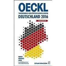 OECKL. Taschenbuch des Öffentlichen Lebens – Deutschland 2016 – Buchausgabe: 65. Jahrgang