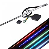 "2pcs 24 ""48-LED RGB 7 colores LED Knight Rider Kit de tira de iluminación del escáner W / luces LED de control remoto del coche"