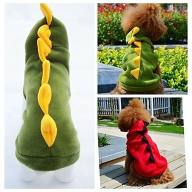 Imagen de gatos / perros disfraces / saco y capucha / accesorios rojo / verde ropa para perro invierno / primavera/otoño animalboda / cosplay / , grün