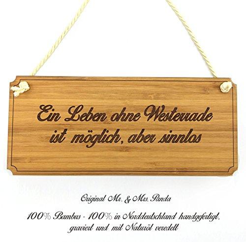 Mr. & Mrs. Panda Türschild Stadt Westerrade Classic Schild - Gravur,Graviert Türschild,Tür Schild,Schild, Fan, Fanartikel, Souvenir, Andenken, Fanclub, Stadt, Mitbringsel
