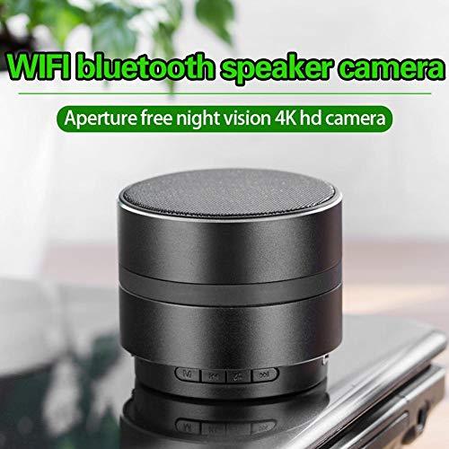 Mirabellini Telecamera nascosta HD 1080P nascosta, Mini Spy Cam WIFI, Altoparlante Bluetooth Videosorveglianza Motion Detection Recorder Home/Office Security.