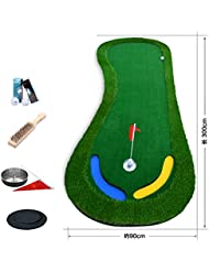 WENZHE Alfombra De Práctica Golf Putting Estera Putt Practica Simulación Verdes Interior Afuera Pendiente, A / B, 1 * 3 M ( Tamaño : B )