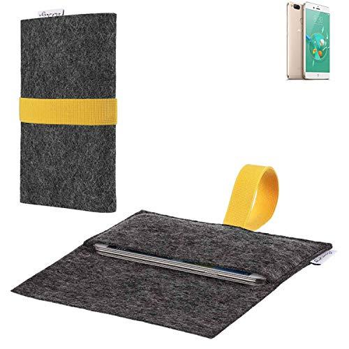 flat.design vegane Handy Hülle Aveiro für Archos Diamond Alpha+ passgenaue Filz Tasche Case Sleeve Made in Germany