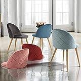 Esszimmerstuhl Coavas samt weich Kissen Sitz und Rücken mit hölzernen Metallbeine Küche Stühle für Ess - und wohnzimmer Stühle Set von 2, Rosa - 2