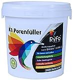 RyFo Colors K1 Porenfüller 1kg (Größe wählbar) - Versiegelung für Buntsteinputz, Steinteppich, verarbeitungsfertig, transparent, für innen und außen