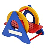Outflower Lovely Rainbow Wooden Swing Sport Exercise Toy for Rat Hamster Mouse Parrot Small Bird