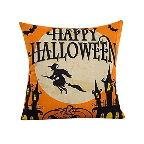 """Decorie """"Happy Halloween"""" Kissenbezug für Sofas, Betten und als Hausdeko,"""