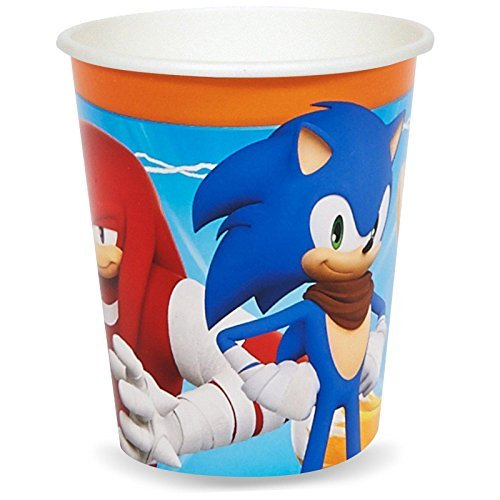 Sonic Boom Party Supplies - 9 oz. Paper Cups by BirthdayExpress (Birthday Supplies Sonic Party)