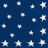 4th of July Party Supplies Paper Napkins Luncheon Size Flag Stars and Stripes 40 Count 6.5' x 6.5' Folded