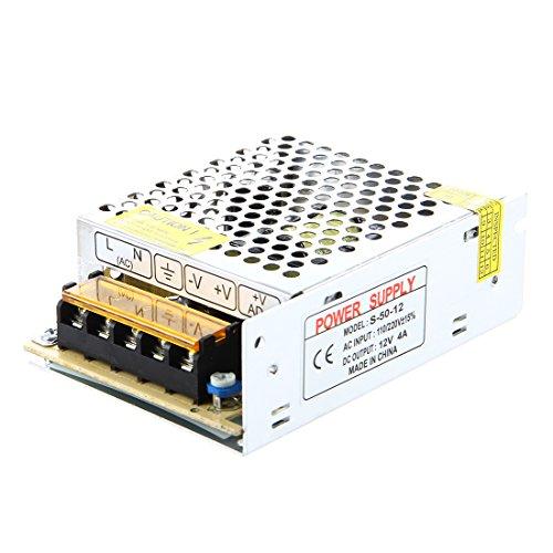 SODIAL(R) Transformador electronico de LED de 50W 4A 100-220V AC a 12V DC