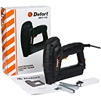 Defort DET-110 leistungsstarker Elektrotacker 20 S/min geeignet für Klammern und Nägel