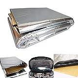 YSHtanj - Tappetino per la pulizia e la manutenzione dell'auto, in lamina di alluminio spessa, isolamento acustico, colore: argento