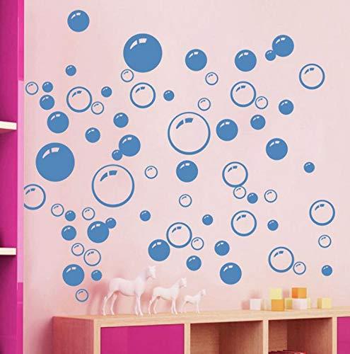Círculo moderno patrón de burbuja productos de baño pegatinas de pared decoración para el hogar fondo de pantalla impermeable azul Freen naranja blanco 21 * 42 cm A