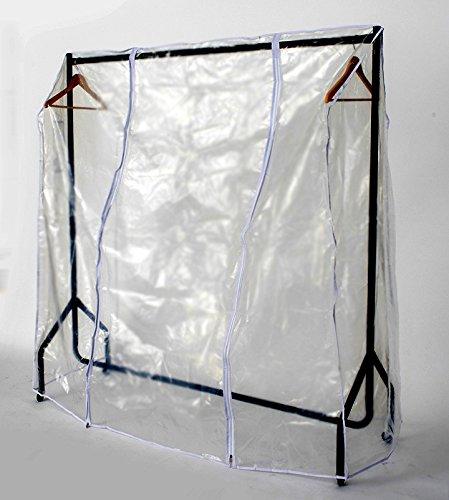 Funda transparente perchero dos cremalleras, plástico