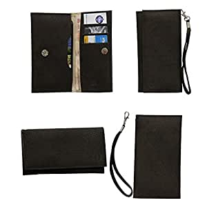 Jo Jo A5 G8 Leather Wallet Universal Pouch Cover Case For HTC Explorer Dark Brown