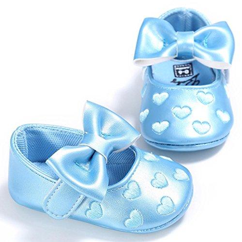 Xmansky Baby Bowknot Prinzessin Soft Sohle Schuhe Kleinkind Turnschuhe Cute Freizeit schuhe Blau