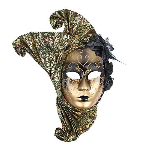 Hophen Venezianische Maske, Marienblume, Mardi Gras Art Wanddekoration, Kollektion schwarz