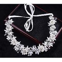 MJW&W Cristal Imitation de perle Casque-Mariage Occasion spéciale Extérieur Serre-tête Chaîne pour Cheveux Accessoires pour Cheveux 1 Pièce