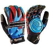 Sector 9 BHNC Longboard Skateboard Slide Gloves Acid Blue With Slide Pucks Size L/XL Size: L/XL Color: Acid Blue, Model: , Toys & Gaems