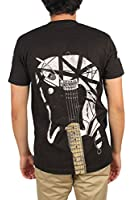Van Halen - Mens White Stripe Guitar T-Shirt in Black