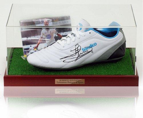 Roberto Soldado Tottenham mano firmato scarpe da calcio