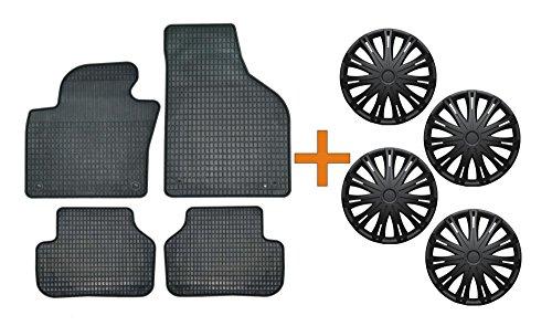 """Preisvergleich Produktbild SET Gummimatten + Radzierblenden Spark schwarz 14"""" für das von Ihnen ausgewählte Fahrzeug,  siehe Artikelbeschreibung"""