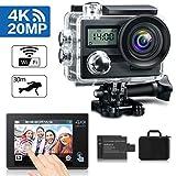 KAMTRON Action Cam 4K Wasserdicht Aktion Kamera - 20MP Ultra Full HD WiFi Unterwasserkamera Helmkamera mit EIS 170°Weitwinkelobjektiv 2