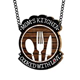 #8: Yaya Cafe Moms Kitchen Cooked With Love Kitchen Wall Door Hanging (Brown_9 Inch X 11 Inch (Approx.)