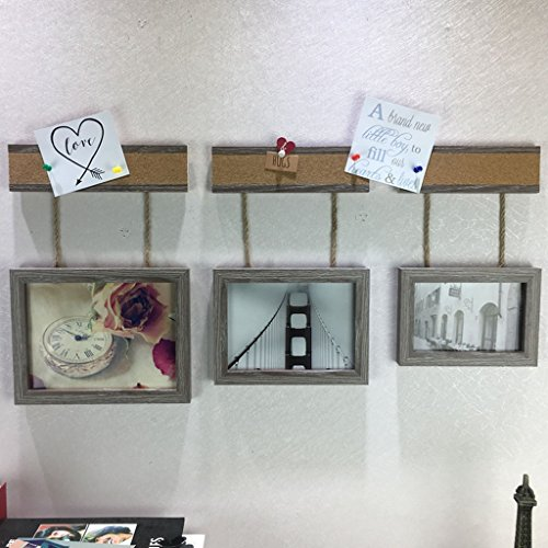 NYDZDM 3pcs photo cadre mur combinaison cadre photo définit, 6/7/8 pouces thé boutique photo décoration murale simple moderne comme cadre photo mur (Couleur : A)