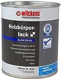 Heizkörperlack weiss inkl.4er Set Pinsel von E-Com24 zum Auftragen und 1 Paar Nitrilhandschuhe (Professional glänzend 2,5 Liter)
