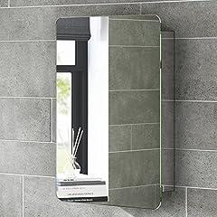 Idea Regalo - soak Armadietto da Bagno con Specchio, Anta Scorrevole, Design Moderno, in Acciaio Inox, 660 x 460 mm