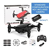 ETbotu Drone, SG800 Mini Drone con fotocamera Altitude Hold RC Droni con fotocamera HD Wifi FPV Quadcopter Dron RC Helicopter VS Z1, JDRC JD-16, HDRC D2, SM M1 Standard without camera black
