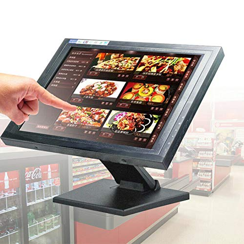 BTdahong 15 Zoll LCD Touch Screen LCD Monitore POS Kassenmonitor mit USB + Stand