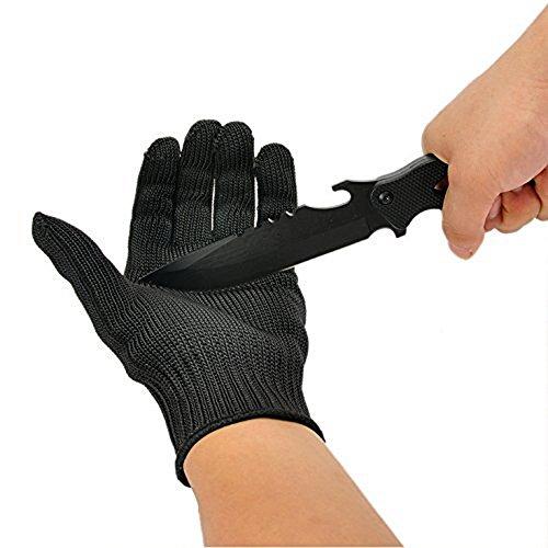 OVOS Arbeitshandschuhe Edelstahl-Drahtgewebe Handschuhe- Schnittfest Sicherheit Arbeitshandschuhe Anti-Schneide-Handschuhe Widerstand geschützte Handschuhe Schnitt-Schutzhandschuhe