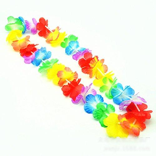 tten Halskette 4 Stück Hawaiianische Kränze Tropische Blumen für Themenbezogenen Geburtstage, Graduierung, Abschlussfeier, Abitur, WeihnachtenHawaiianischen Luau Blumen Kette ()