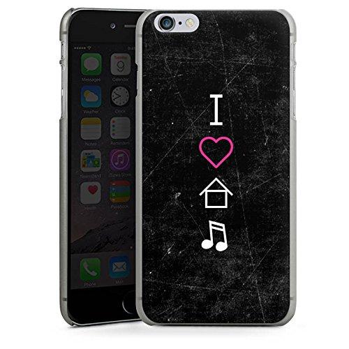 Apple iPhone X Silikon Hülle Case Schutzhülle House Musik Liebe Hard Case anthrazit-klar