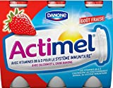 Actimel 0% Strawberry Drinking Yogurts 8 x 100g