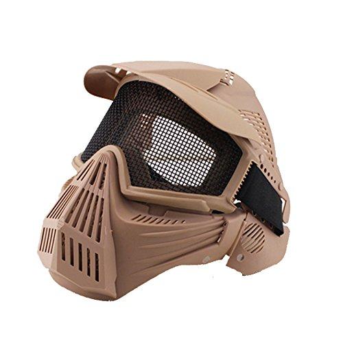 Airsoft-Maske Profi-Mase fürs ganze Gesicht, Mesh-Maske Schutzmaske Militärschutzmaske, ideal für Paintball / Halloween-Kostüm, von htuk®, - Kunststoff-gesicht Halloween-maske