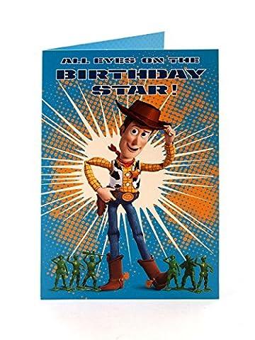 Disney Anniversaire de Woody, star de Toy Story Carte d'anniversaire
