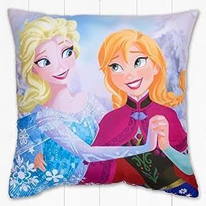 Frozen - Coussin Oreiller Réversible Disney Reine des Neiges Motif Elsa, Anna, Olaf Officiel