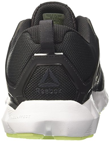 Reebok Hexaffect Run 5.0, Chaussures de Running Compétition Homme Multicolore (Coal/electric Flash/white/pewter)