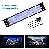 JOYHILL Eclairage Aquarium LED, Rampe LED pour Aquarium d'eau Douce, Lumiere Aquarium Plantes, 2 Mode Lampe LED pour Aquarium 50cm-70cm