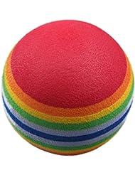 Bolas practica de golf - TOOGOO(R)50 pzs Ayudas de entrenamiento de oscilacion de golf Bolas del arco iris de espuma de esponja de practica del interior