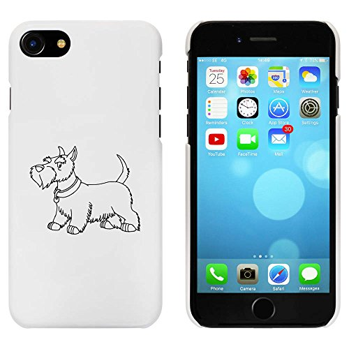 Azeeda Weiß 'Scottish Terrier' Hülle für iPhone 7 (MC00085311) -