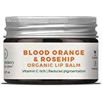 Juicy Chemistry Organic Lip Balm, Blood Orange & Rosehip Lip Care for Dry and Chapped Lips, 5 gm Moisturizing Natural…